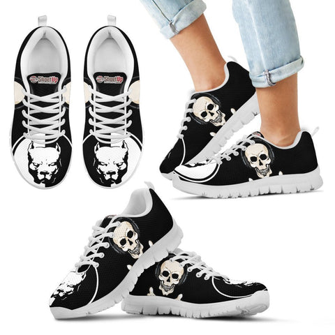 Pitbull Halloween Theme Print Running Shoes For Kids- Free Shipping