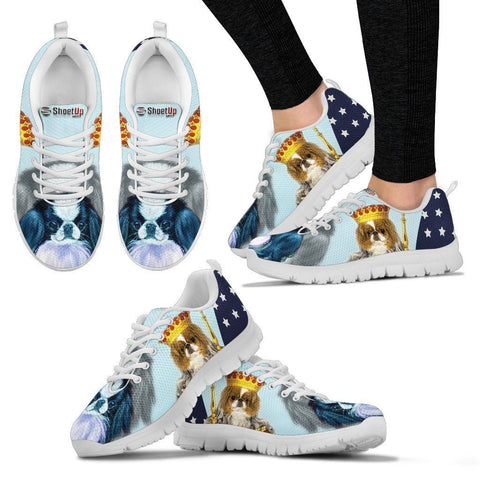 Japanese Chin In King Style Print Running Shoes- Free Shipping