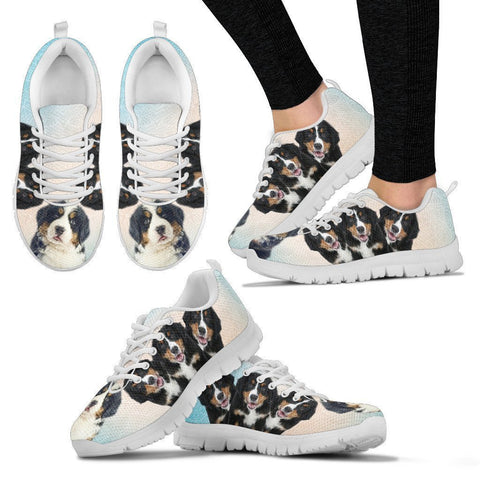 Three Bernese Mountain Dog Print Running Shoes For Women-Free Shipping