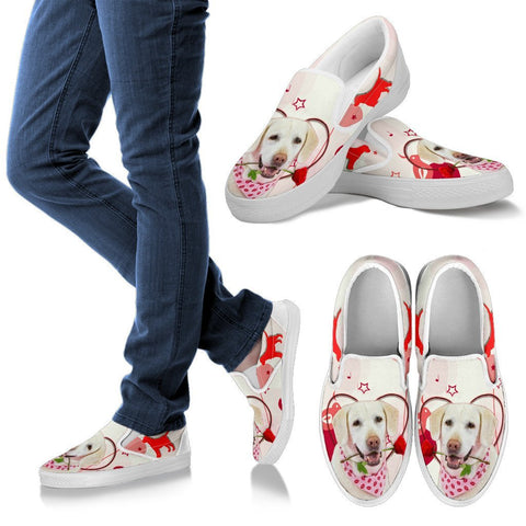 Valentine's Day Special Labrador Retriever Print Slip Ons For Women- Free Shipping