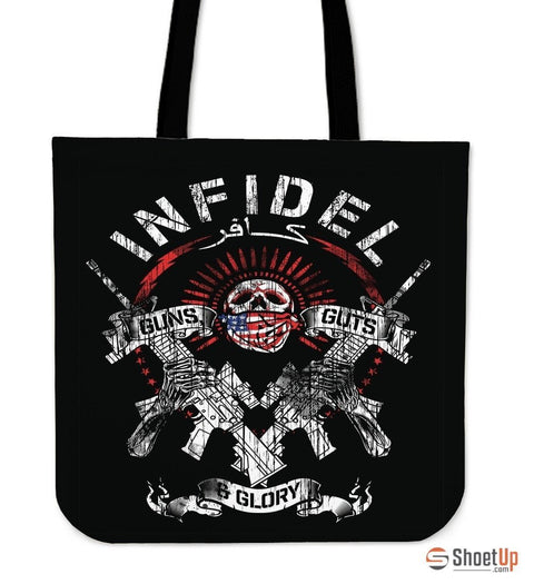 Infidel Guns & Glory-Tote Bag-Free Shipping
