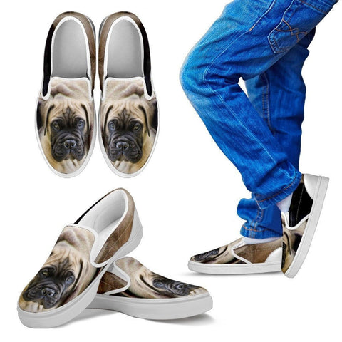 English Mastiff Print Slip Ons For Kids- Exrpess Shipping
