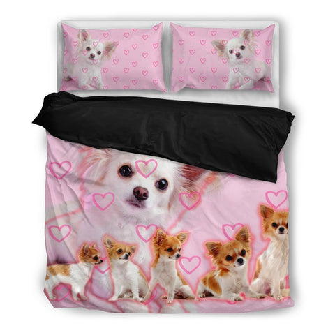 Cute Chihuahua Pink Bedding Set- Free Shipping