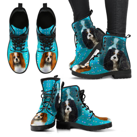 Valentine's Day Special- Cavaliar King Charles Spaniel Print Boots For Women-Free Shipping