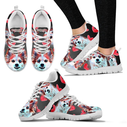 Amazing Cartoonized Dog Running Shoes For Women-Designed By Sandy Hunter-Express Shipping