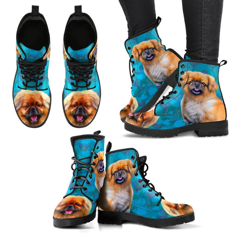 Valentine's Day Special-Pekingese Dog Print Boots For Women-Free Shipping