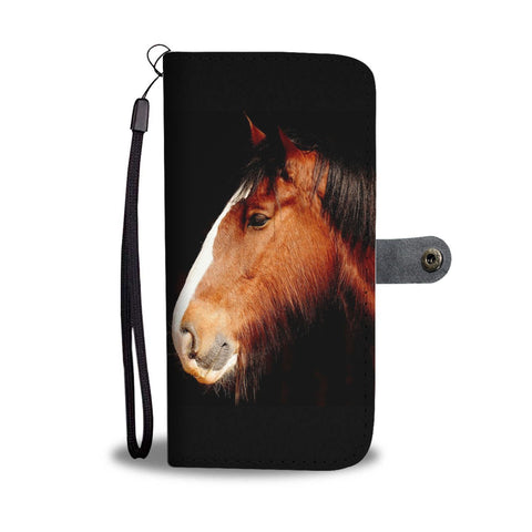 Amazing Shire Horse Print Wallet Case-Free Shipping