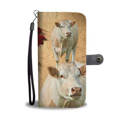 Charolais Cattle (Cow) Print Wallet Case-Free Shipping