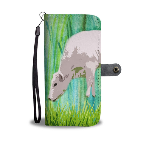Amazing Chianina Cattle (Cow) Print Wallet Case-Free Shipping
