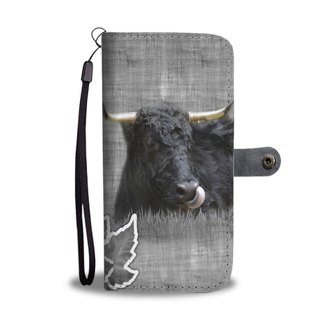 Welsh Black cattle (Cow) Print Wallet Case-Free Shipping