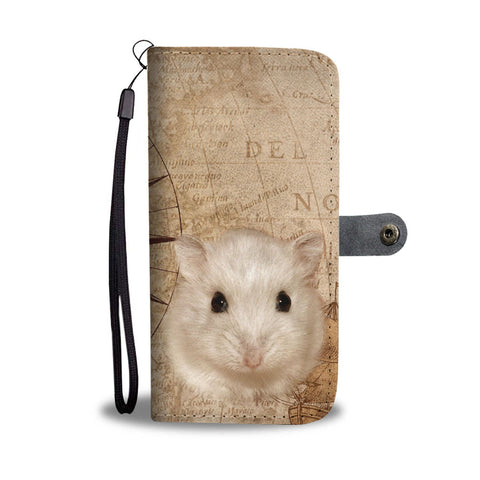 Cute Campbell's Dwarf Hamster Print Wallet Case-Free Shipping