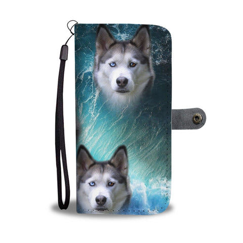 Amazing Siberian Husky Wallet Case- Free Shipping