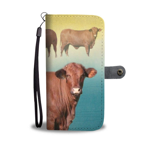 Amazing Santa Gertrudis Cattle (Cow) Print Wallet Case-Free Shipping