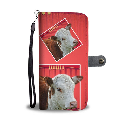 Hereford Cattle (Cow) Print Wallet Case-Free Shipping