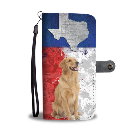 Amazing Golden Retriever Print Wallet Case- Free Shipping-TX State