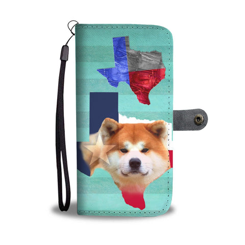Lovely Akita Dog Print Wallet Case-Free Shipping-TX State