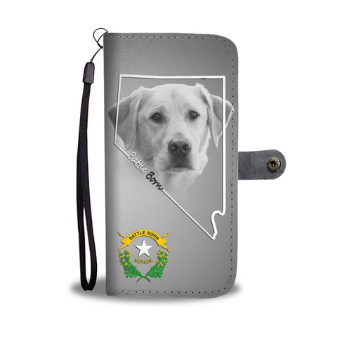 Lovely Labrador Retriever Print Wallet Case- Free Shipping-NV State