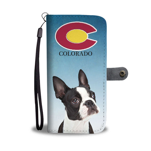 Boston Terrier Print Wallet Case-Free Shipping-CO State