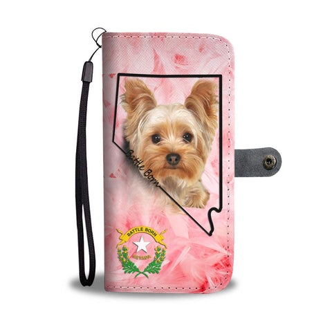 Yorkshire Terrier On Pink Print Wallet Case-Free Shipping- NV State