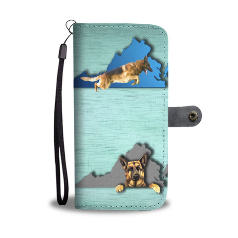 German Shepherd Dog Print Wallet Case-Free Shipping-VA State