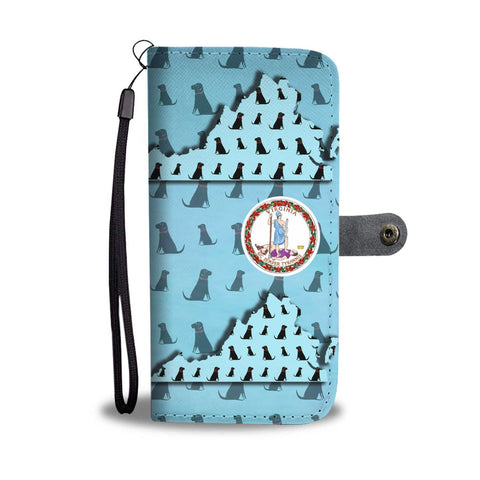 Labrador Dog Pattern Print Wallet Case-Free Shipping-VA State