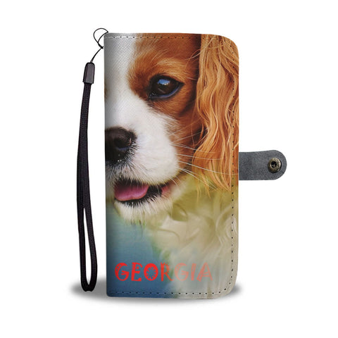 Cavalier King Charles Spaniel Print Wallet Case-Free Shipping-GA State