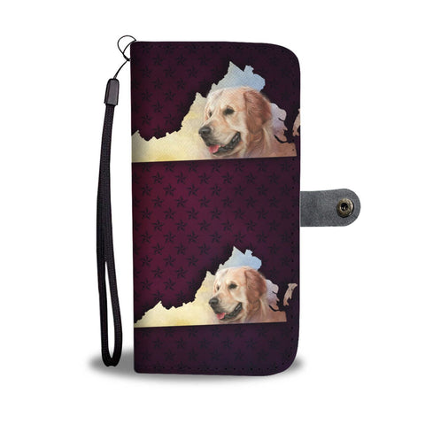 Golden Retriever Dog Art Print Wallet Case-Free Shipping-VA State