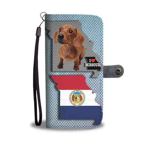 Cute Dachshund Dog Print Wallet Case-Free Shipping-MO State
