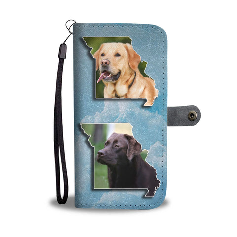 Labrador Retriever Print Limited Edition Wallet Case-Free Shipping-MO State