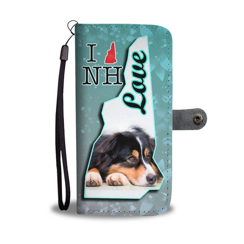 Australian Shepherd Dog Print Wallet Case-Free Shipping-NH State