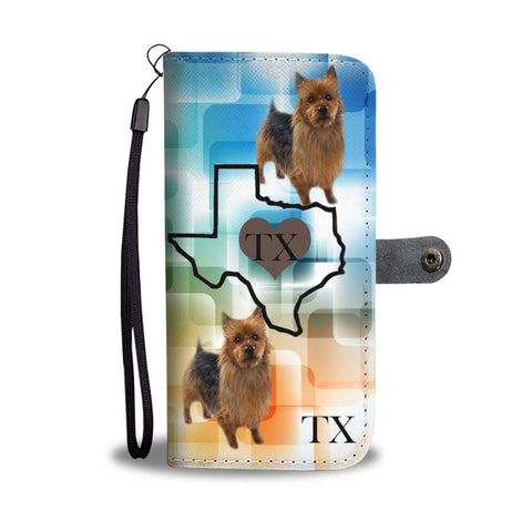 Australian Terrier Print Wallet Case-Free Shipping-TX State