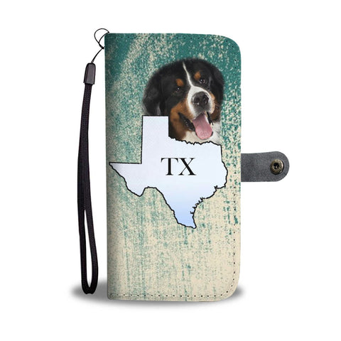 Bernese Mountain Dog Print Wallet Case-Free Shipping-TX State