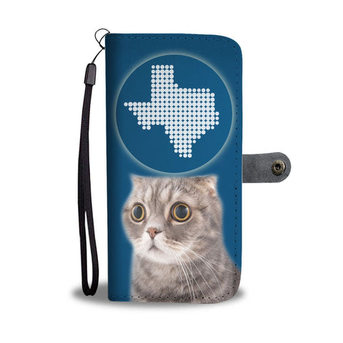 Scottish Fold Cat Print Wallet Case-Free Shipping-TX State