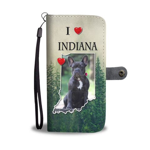 Cute French Bulldog Print Wallet Case-Free Shipping-IN State