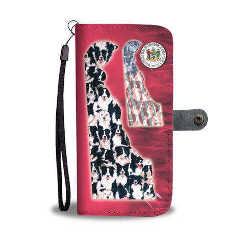 Border Collie In Lots Print Wallet Case-Free Shipping-DE State