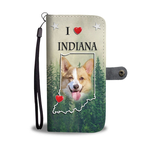 Cute Pembroke Welsh Corgi Print Wallet Case-Free Shipping-IN State