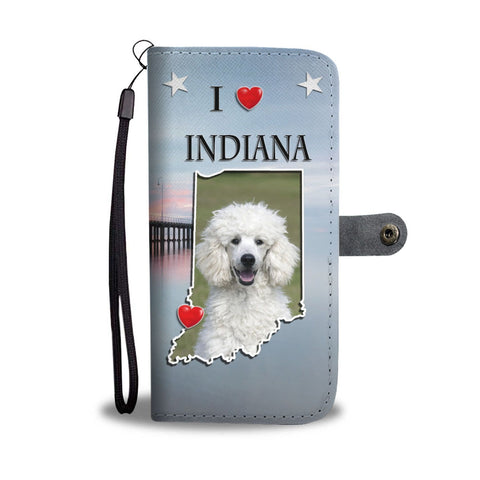 Cute Poodle Dog Print Wallet Case-Free Shipping-IN State
