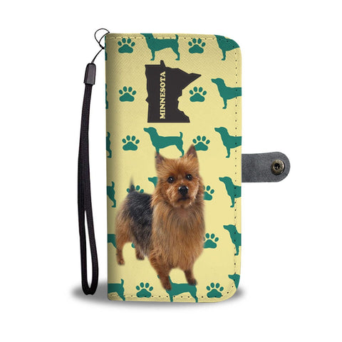 Australian Terrier Print Wallet Case-Free Shipping-MN State