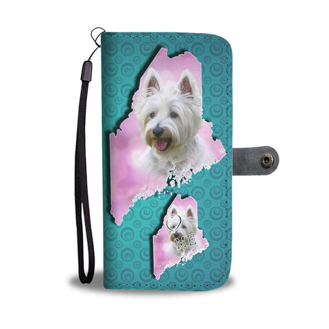 Cute Westie Art Print Wallet Case-Free Shipping-ME State