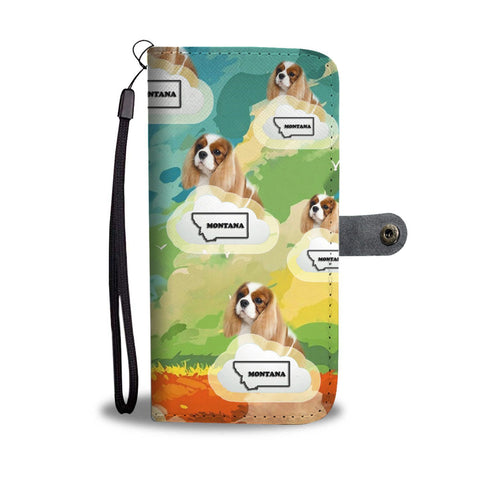 Cavalier King Charles spaniel Print Wallet Case-Free Shipping-MT State