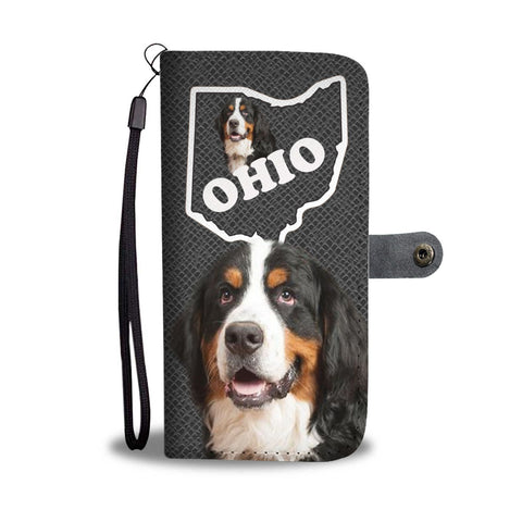 Bernese Mountain Dog Print Wallet Case-Free Shipping-OH State