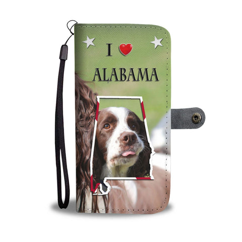 English Springer Spaniel Print Wallet Case-Free Shipping-AL State