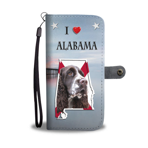 Cute English Springer Spaniel Print Wallet Case-Free Shipping-AL State