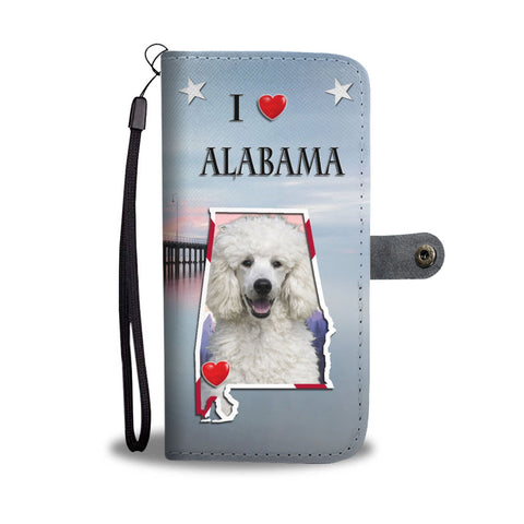 Lovely Poodle Print Wallet Case-Free Shipping-AL State