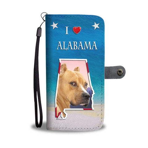 Staffordshire Terrier Print Wallet Case-Free Shipping-AL State