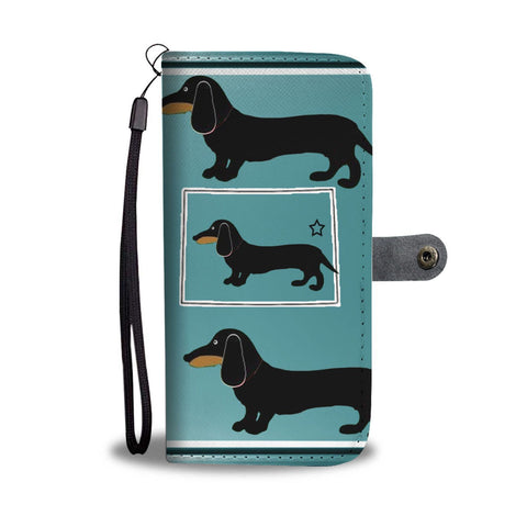 Dachshund Dog Print Wallet Case-Free Shipping-CO State