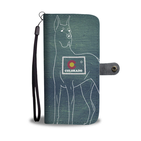 Great Dane Print Wallet Case-Free Shipping-CO State