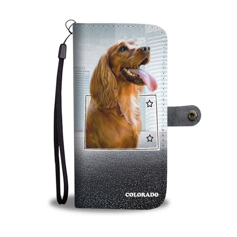 Cocker Spaniel Print Wallet Case-Free Shipping-CO State