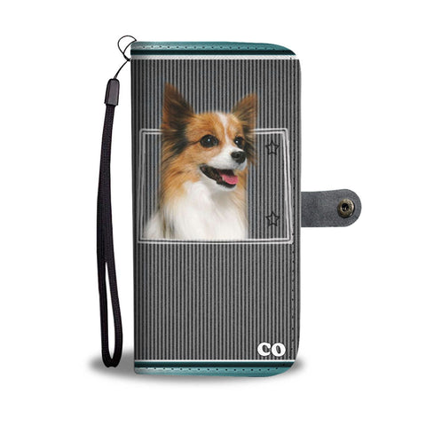 Papillon dog Print Wallet Case-Free Shipping-CO State