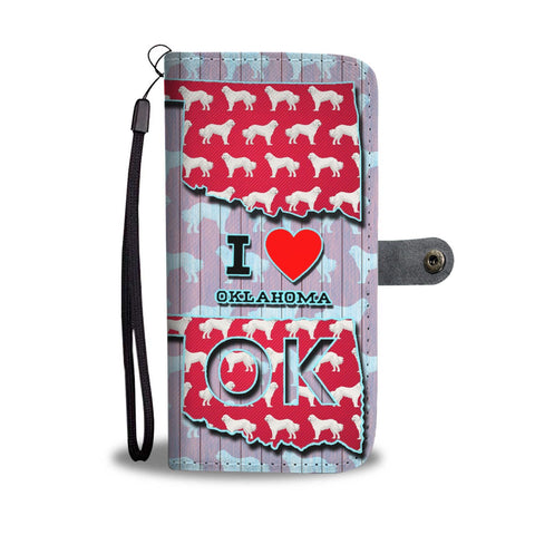 Great Pyrenees Dog Pattern Print Wallet Case-Free Shipping-OK State